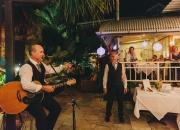 Tony and wedding guests having fun in Port Douglas
