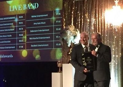 Tony George awarded best live wedding band Queensland 2016